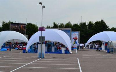Dome Tenten voor Lancering Disney Infinity Game Muiden