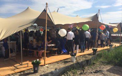 Stretchtent bij Opening bouwlocatie Dura Vermeer Zoetermeer