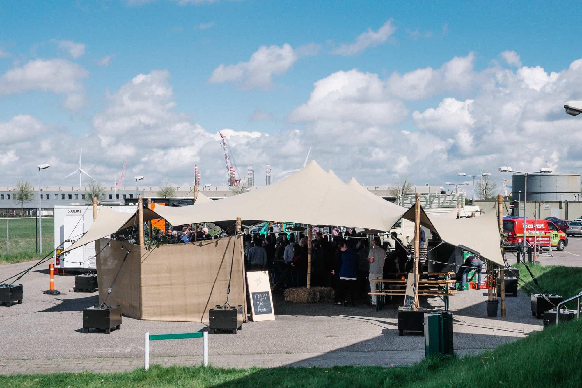 stretchtent personeelsfeest starbucks tent4rent