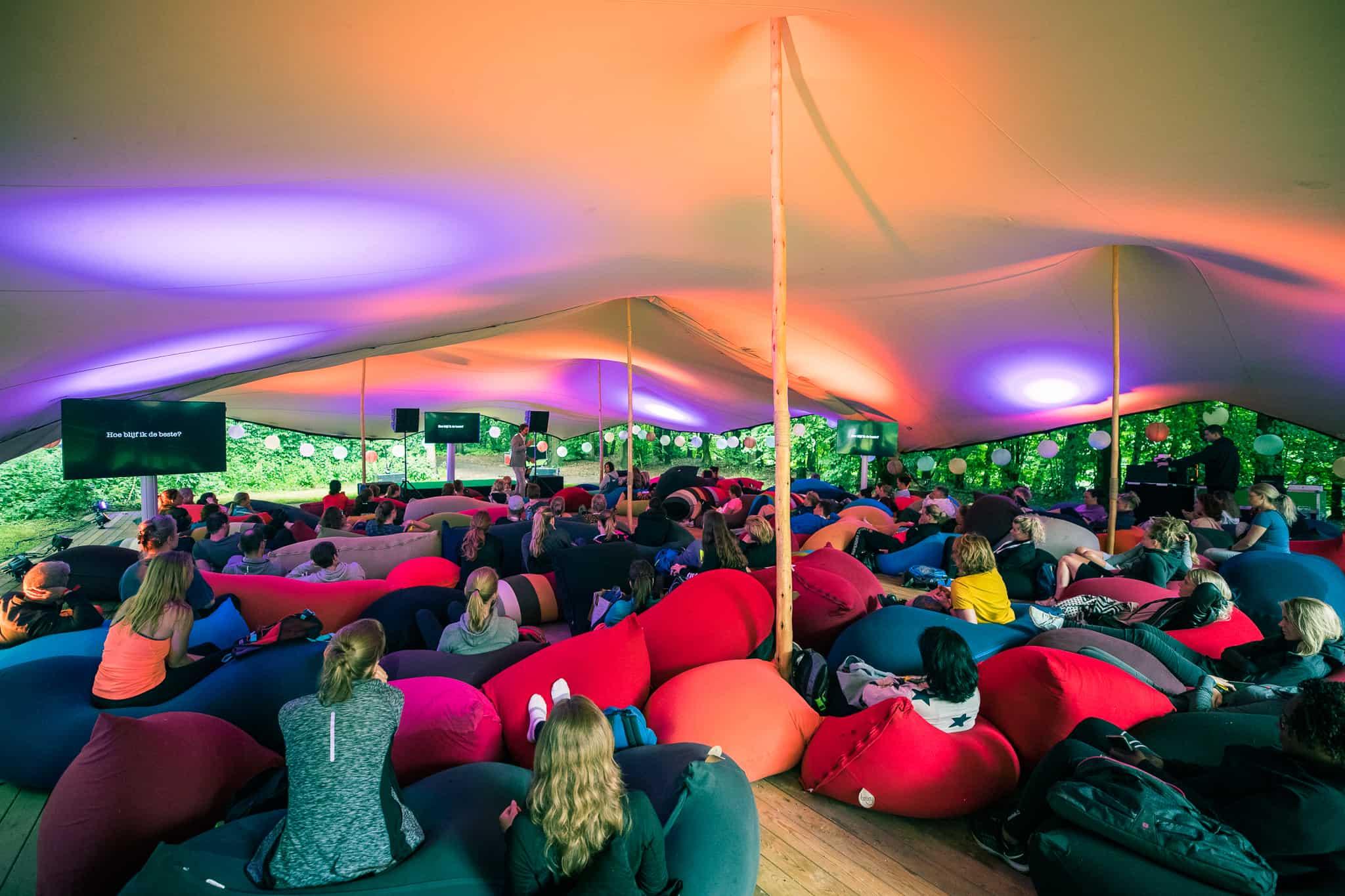Stretchtent Tent4Rent bij Healthy Fest