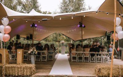 Stretchtent Bruiloft bij Restaurant het Wapen van Vidaa