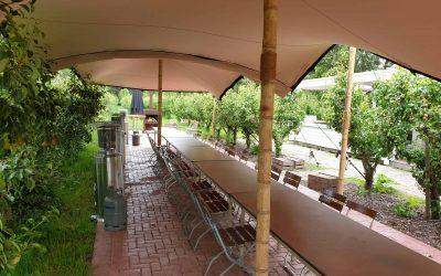 Gekoppelde stretchtent Landgoed de Olmenhorst