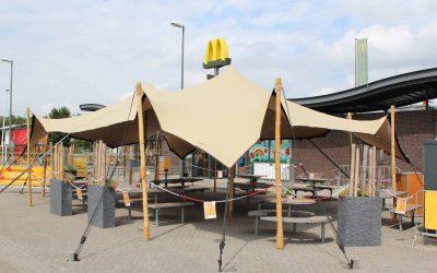 Terrasoverkapping McDonalds Oosterhout Weststad